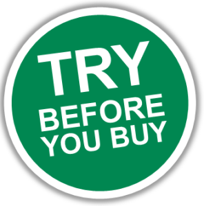 Try Before Your Buy button in green color