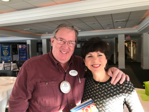 Mark Brady and Kathy McAfee - Rotary meeting Dec 15 2016