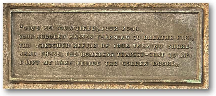 Statue of liberty plague - emma lazarus