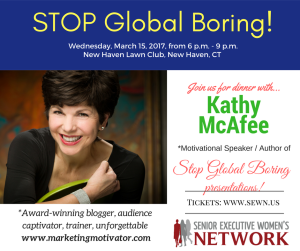 FLYER - Kathy McAfee to speak at SEWN event on March 15