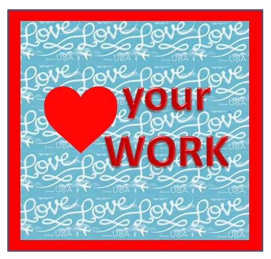 Love Stamps - love your WORK art